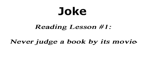 reading lesson joke